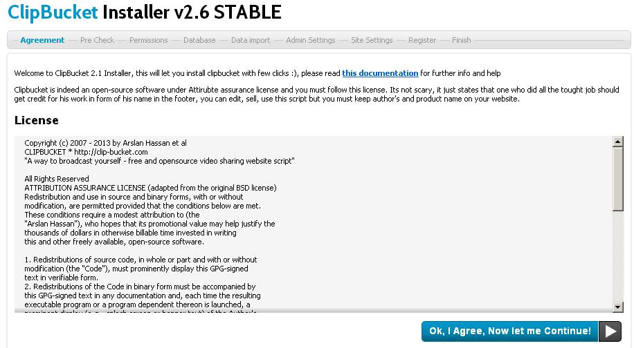 ClipBucket v2.6 STABLE Installer