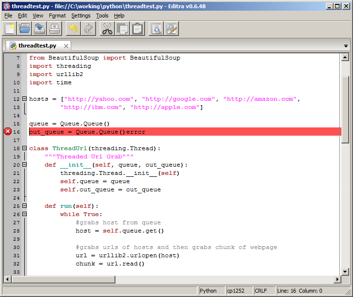 Editra A Developer's Text Editor screenshot