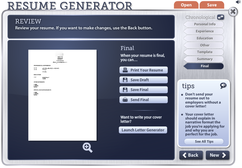 Superb Free Online Resume Generator On Online Resume Generator