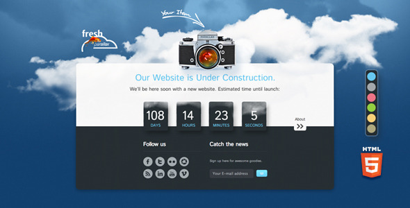 Fresh Parallax Under Construction Countdown