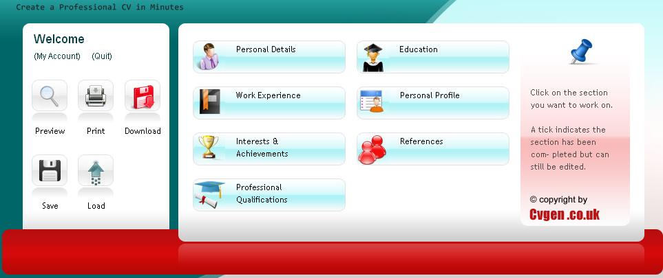Generate CV with cvgen