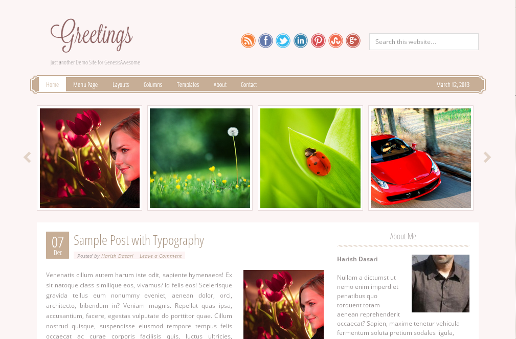 Greetings Free Responsive Genesis Child Theme