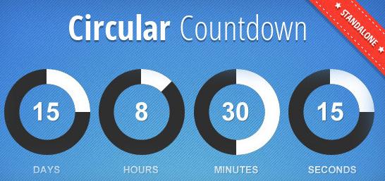 JBMarket Circular Countdown