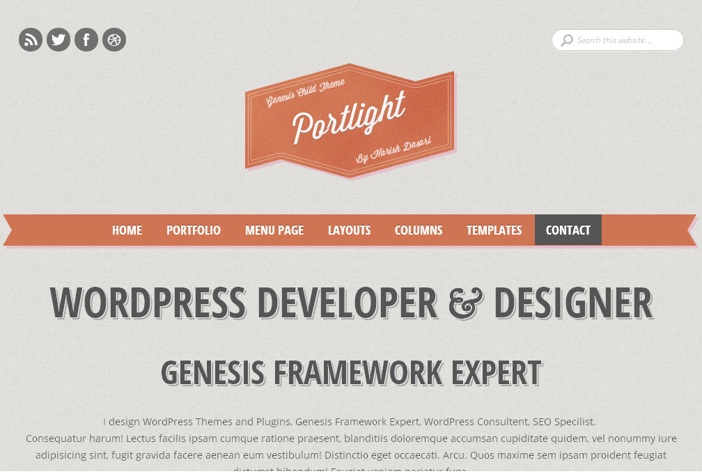 Portlight Free Responsive Genesis Child Theme
