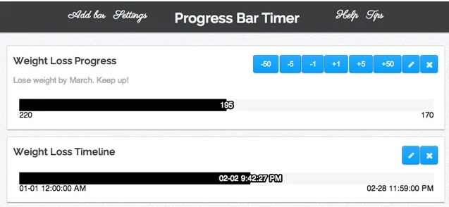 Progress Bar Timer Google Extension