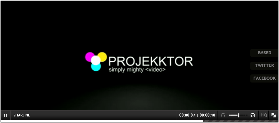 Projekktor The free HTML5 video player