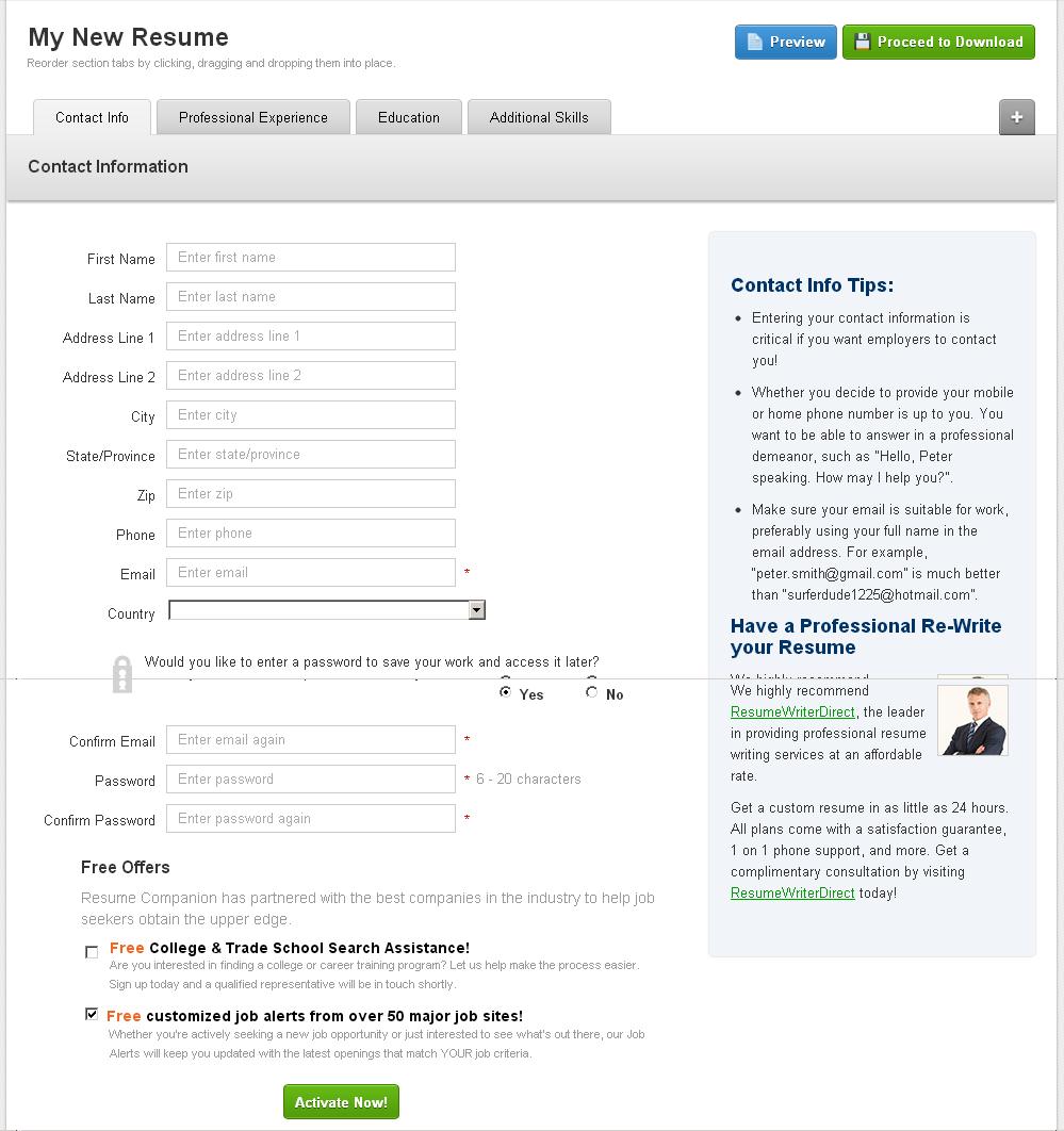 easyjob resume builder resume bulider resume bulider - Easyjob Resume Builder