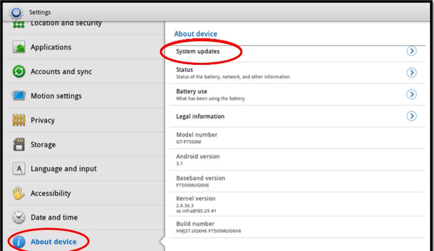 Samsung Galaxy Nexus GT-I9250T Android 4.1.0