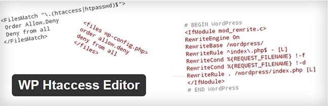 WordPress Htaccess Editor