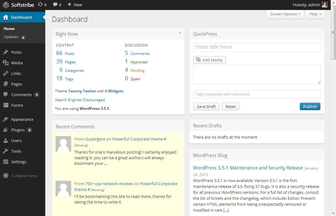 WordPress New Admin Design with MP6