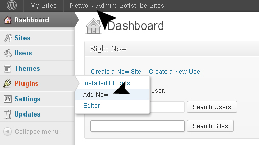 Wordpress Admin Network