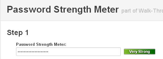 jQuery Password Strength Meter