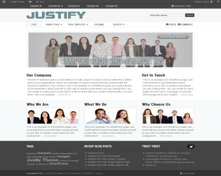 justify free-genesis-child-theme