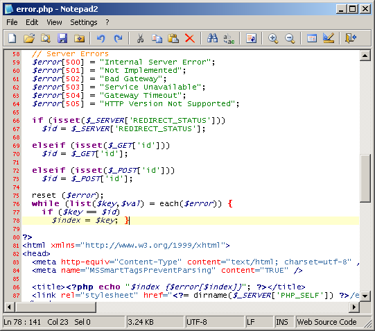 notepad2 Text Editor screenshot