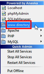 www directory wampserver