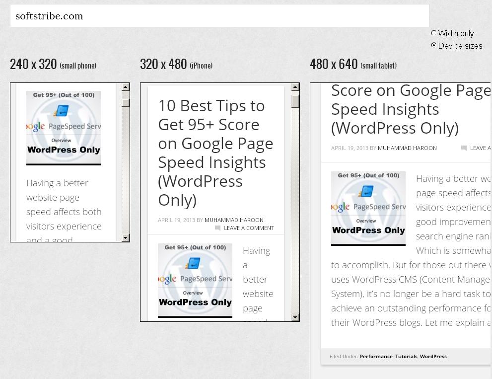Mobile Responsive Design Testing StudioPress