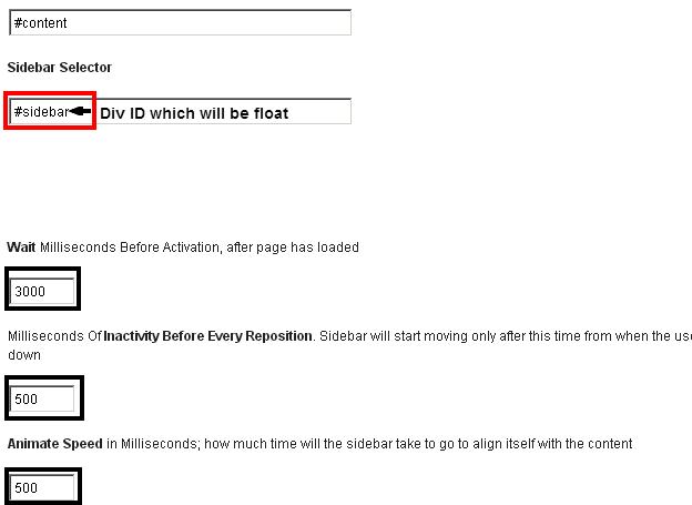 Strx Floating Sidebar WordPress