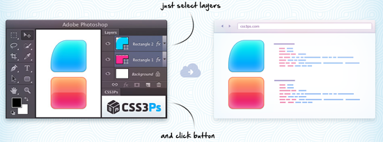 CSS3Ps photoshop plugin Example