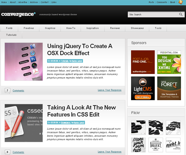Convergence Community WordPress Theme