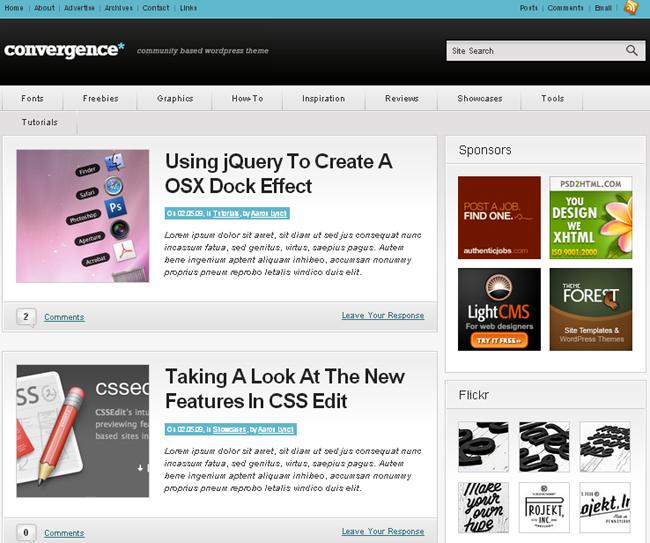 Convergence Community WordPress Theme