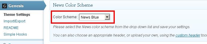 Genesis Theme Settings WordPress