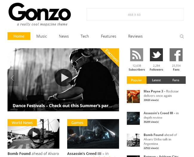 Gonzo Responsive WP Magazine