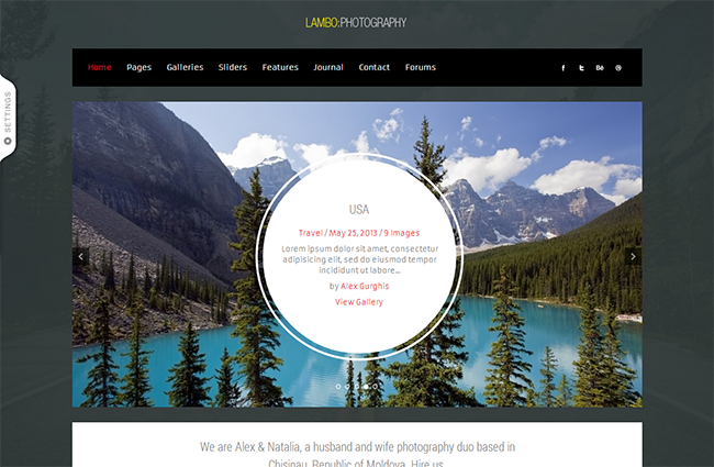 Lambo Premium Photography Theme