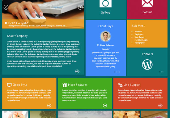 Metro Box - The Windows 8 Inspired HTML5-Based WordPress Theme