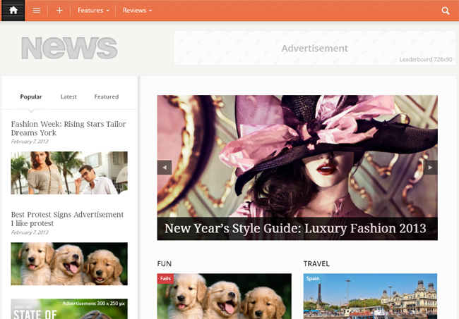 Newses Magazine WordPress Theme