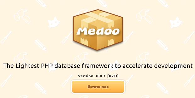 PHP database framework to accelerate development Medoo