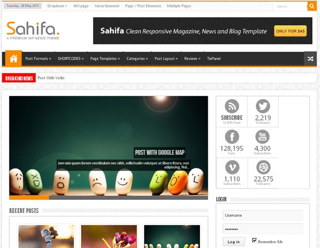 Sahifa Magazine WordPress Theme