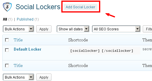 Social Lockers for WordPress