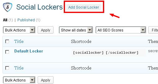 Social Lockers for WordPress
