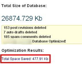 WP Optimize Settings