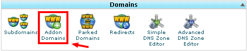 cPanel X Addon domains