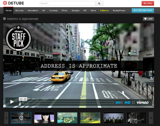 deTube Professional Video WordPress Theme