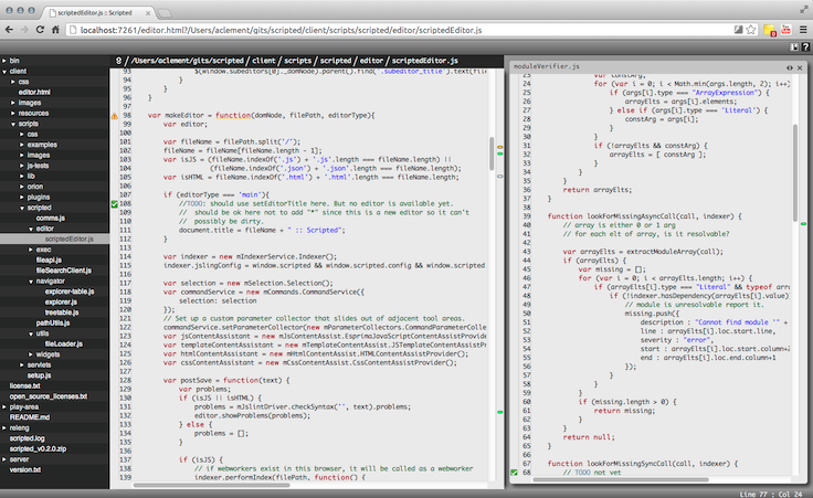 scripted code editor made with jquery