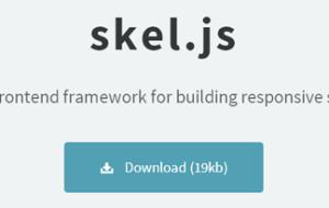 skel.js  A framework for building responsive sites and apps.