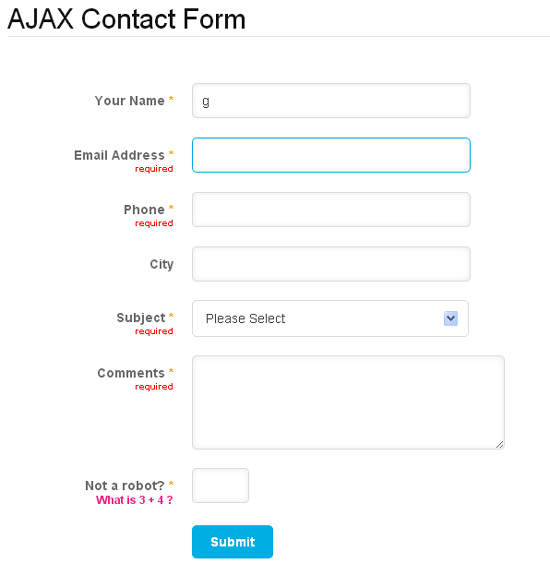 Ajax PHP Contact Form with CSV Exporter Filters