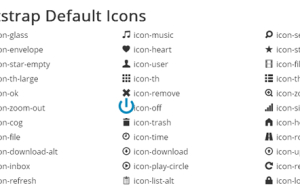 Bootstrap Default Icons