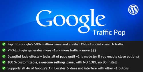 Google Traffic Pop for WordPress