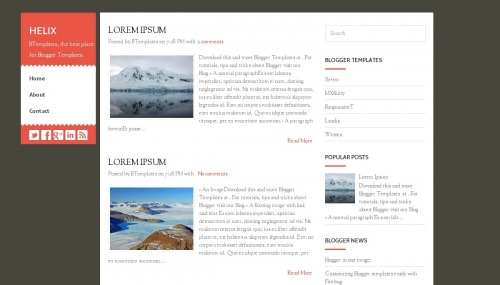 Helix Blogger Template