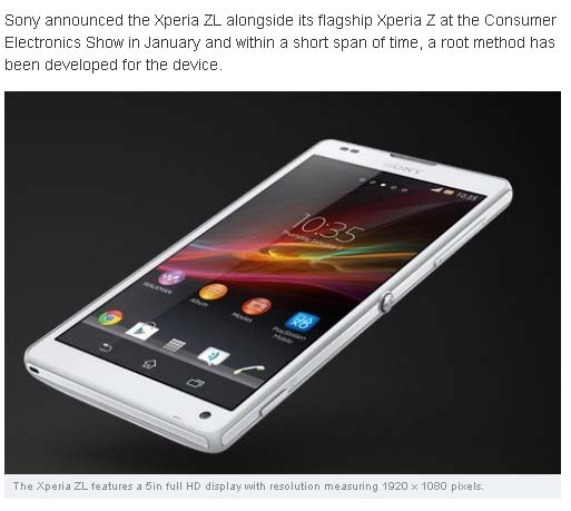 How to Root Sony Xperia ZL and Install ClockworkMod Recovery [GUIDE]