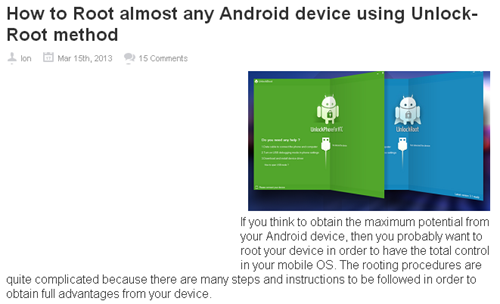 How to Root almost any Android device using Unlock-Root method