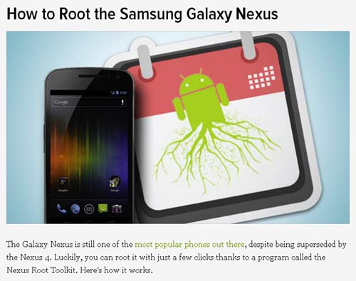 How to Root the Samsung Galaxy Nexus