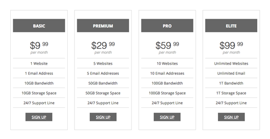 Metaphor Shortcodes Pricing Table Plugin for WordPress0