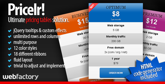 Pricelr! - Ultimate Pricing Tables Solution