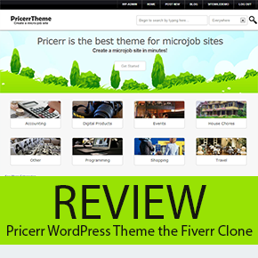 Review: Pricerr WordPress Theme the Fiverr Clone
