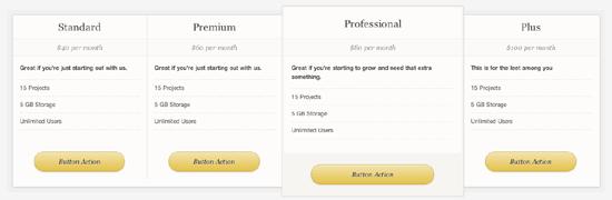 Pricing Table WordPress plugin0