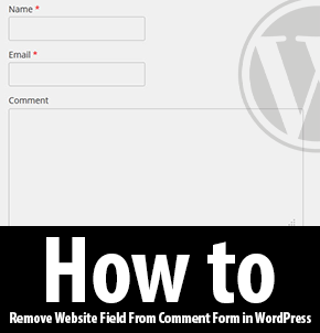 Remove Website Field From Comment Form in WordPress Thumbnail